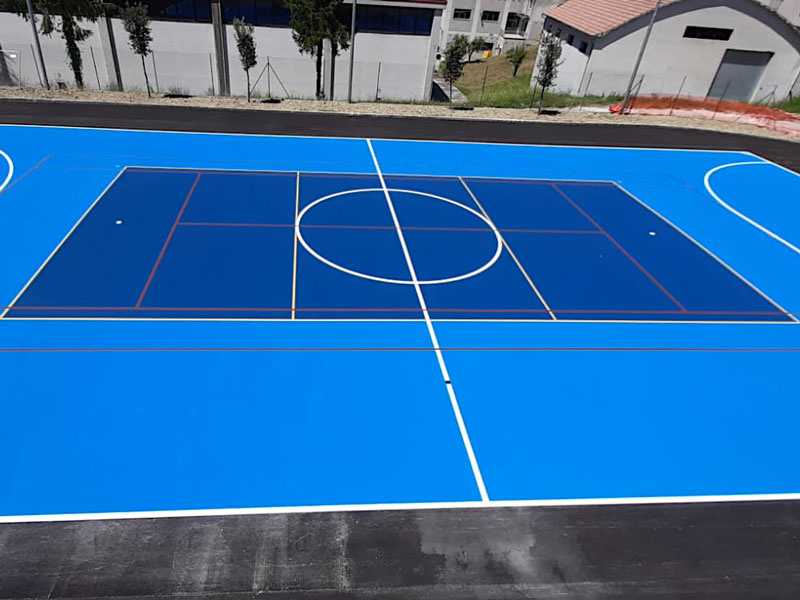 pavimento sport indoor in resina